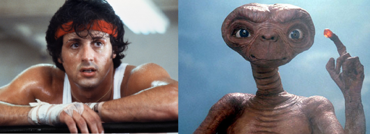 Rocky and ET